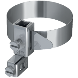 earthing pipe clamp v2a 38 1 12 inch 17 50 mm for 4 50 mm connecting conductor